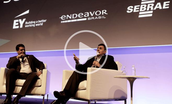 Pedro Lima (à dir.) e Leonardo Donato, da EY, no CEO Summit