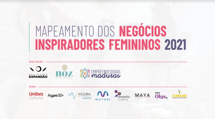 Mapeamento de negócios inspiradores femininos